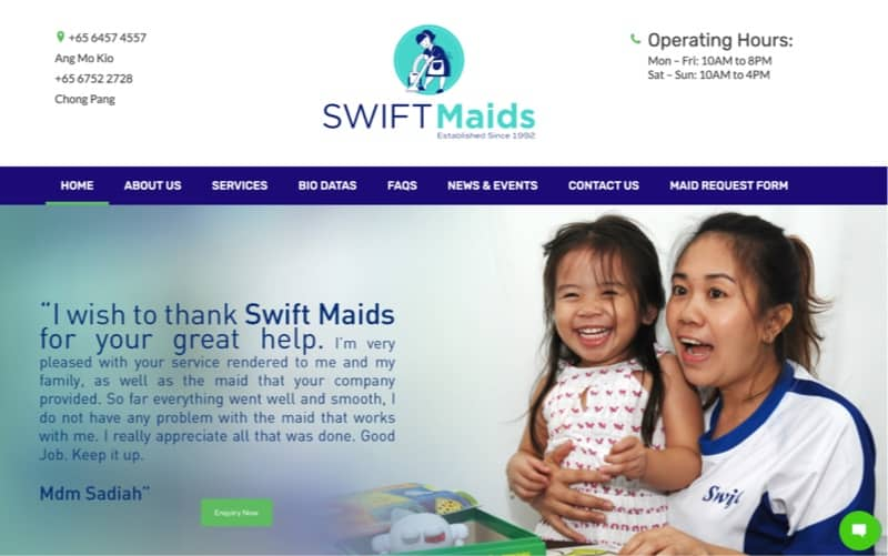 swift maids digital marketing