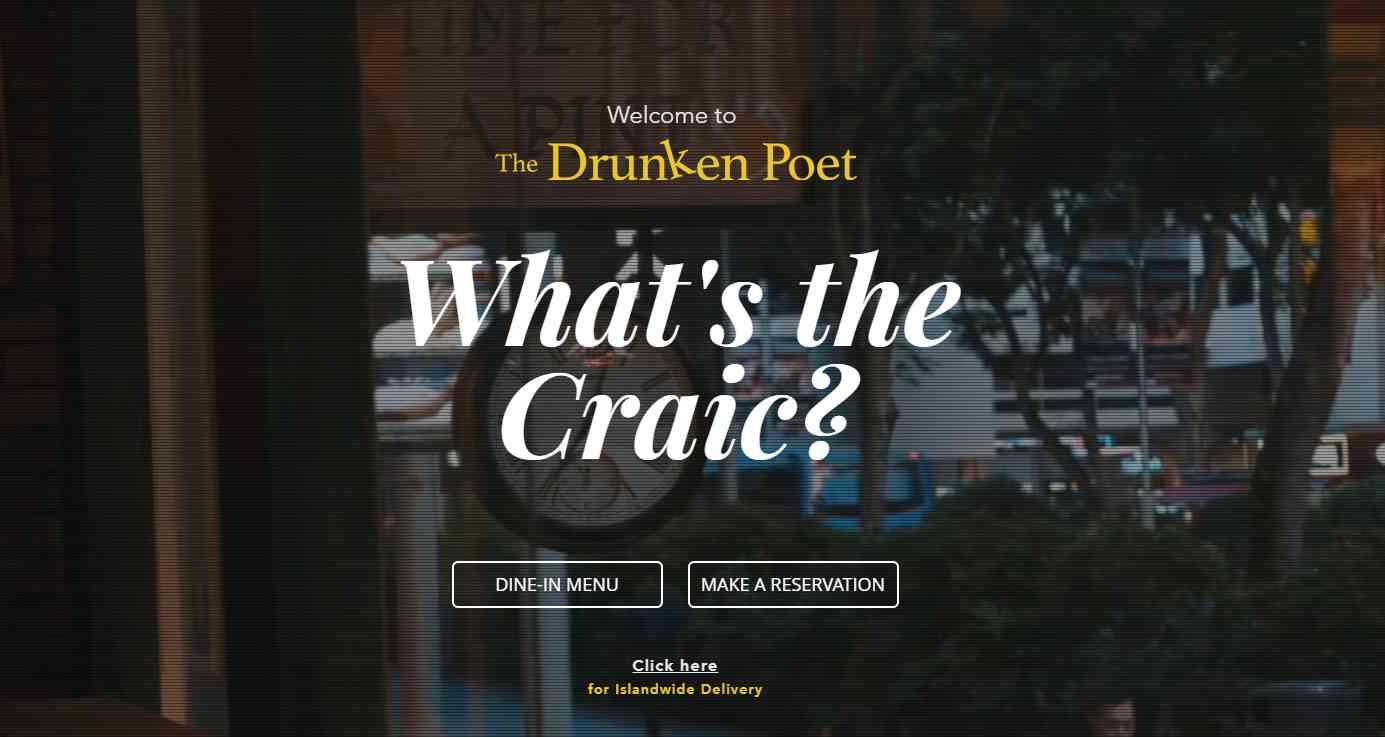 the drunen poet Top Pubs In Singapore