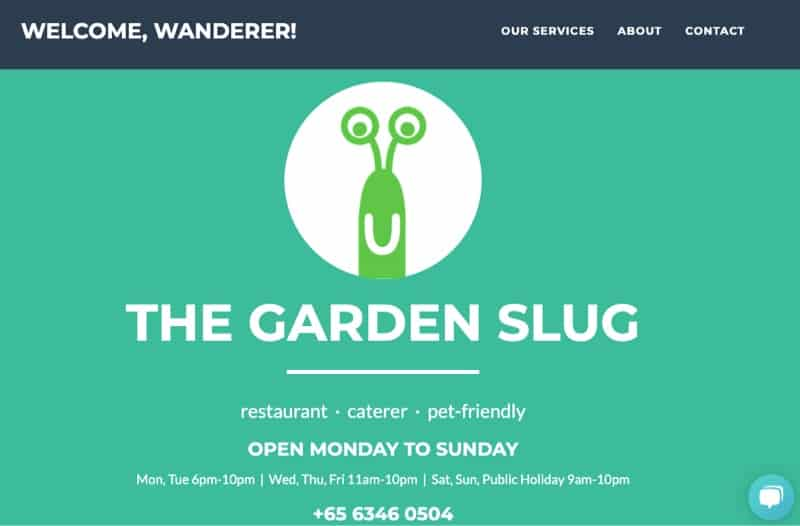 the garden slug pet friendly cafe