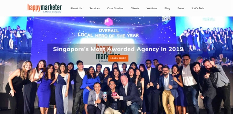 top seo singapore happy marketer