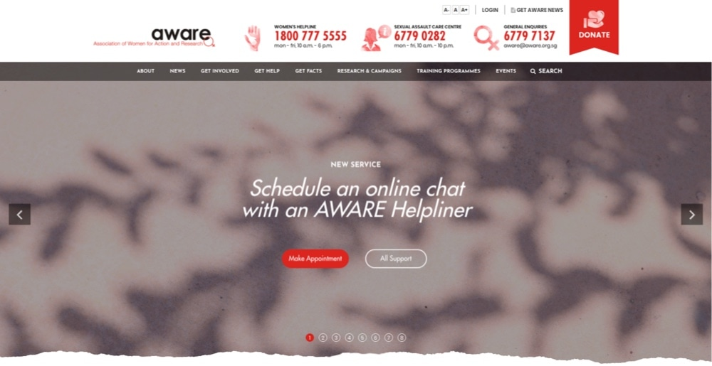 AWARE opening hours locations reviews