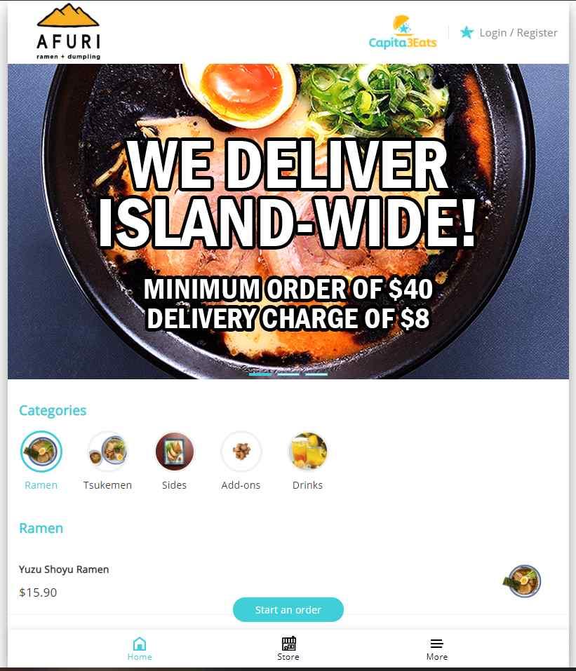 Afuri Top Ramen Restaurants in Singapore