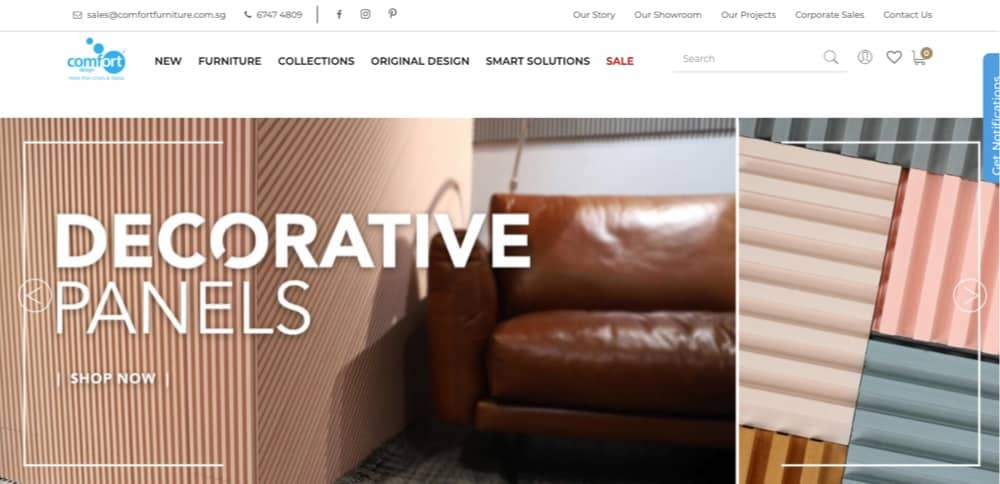 Comfort design top furniture retailer