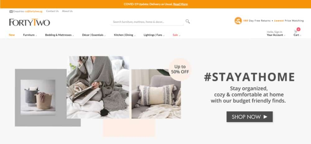 Forty Two singapore top online furniture sales