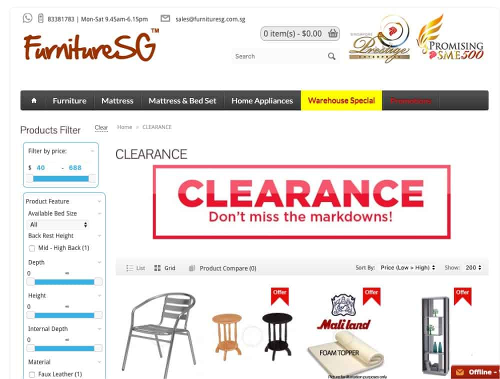 Furniture SG top furniture retailer singapore