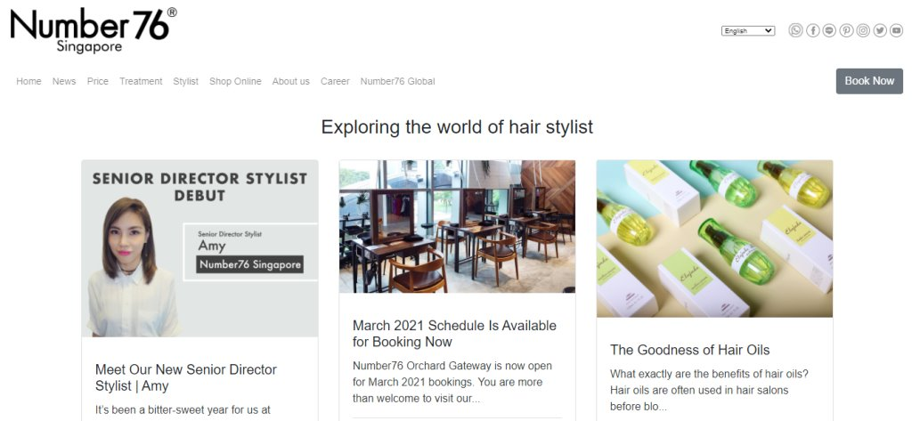 Number 76 Top Hair Salons In Singapore