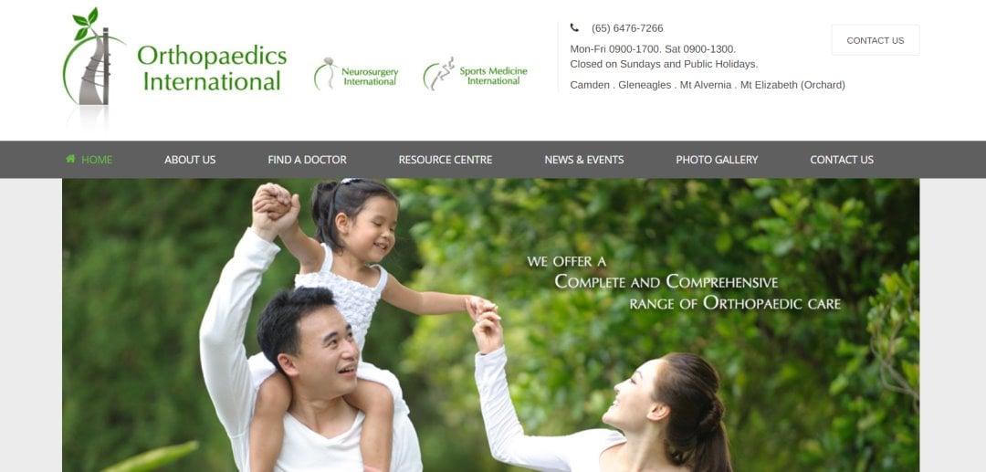 Orthopaedics International Top Orthopaedic Clinics In Singapore
