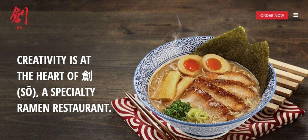 Soramen Top Ramen Restaurants in Singapore