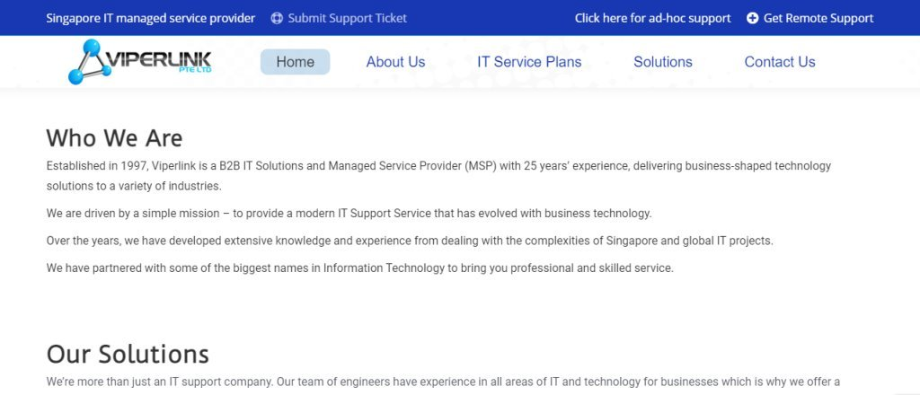 Viper Link Top Managed IT Services in Singapore