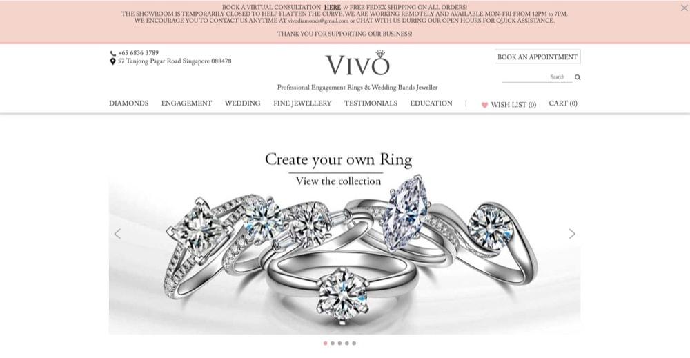Vivo Diamonds list of best engagement ring shops