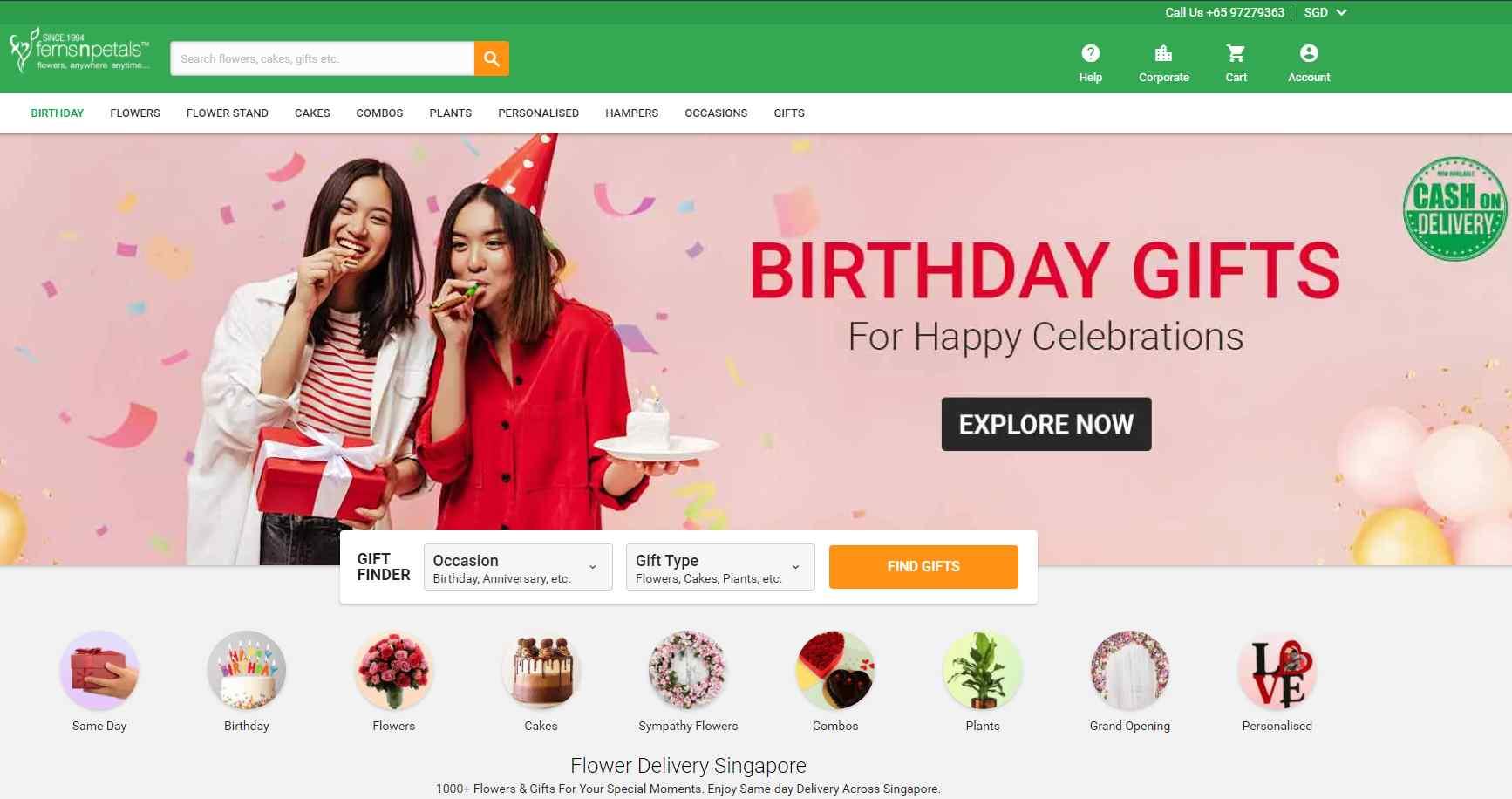 fern petals Top Gift Hamper Companies in Singapore