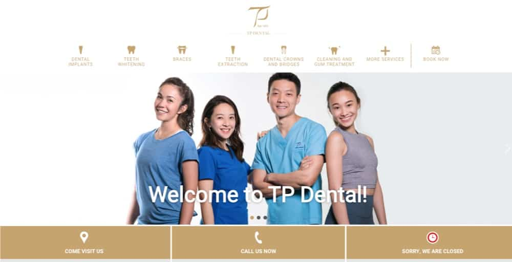 find tp dental branch clinic locations singapore