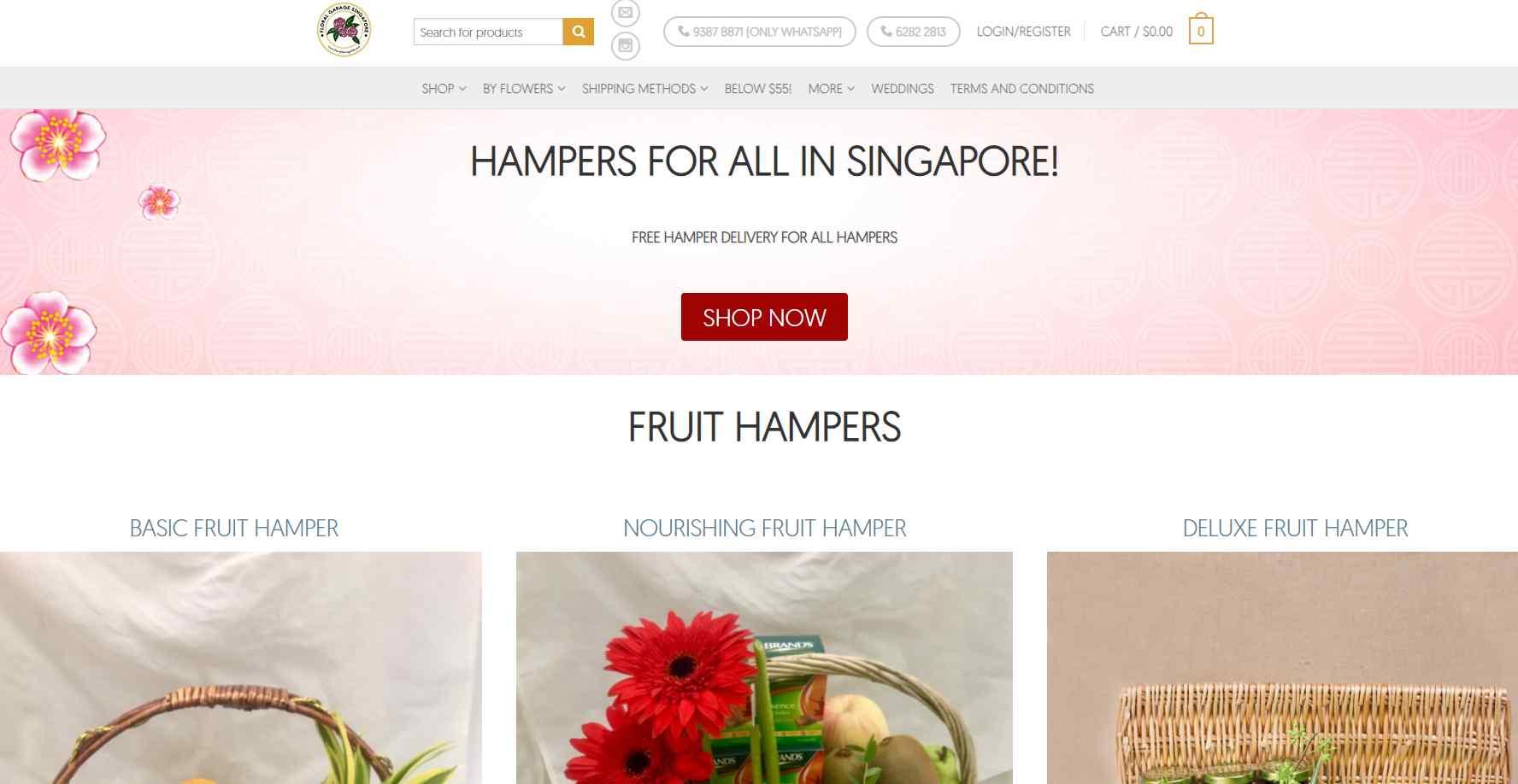 floral garage Top Gift Hamper Companies in Singapore