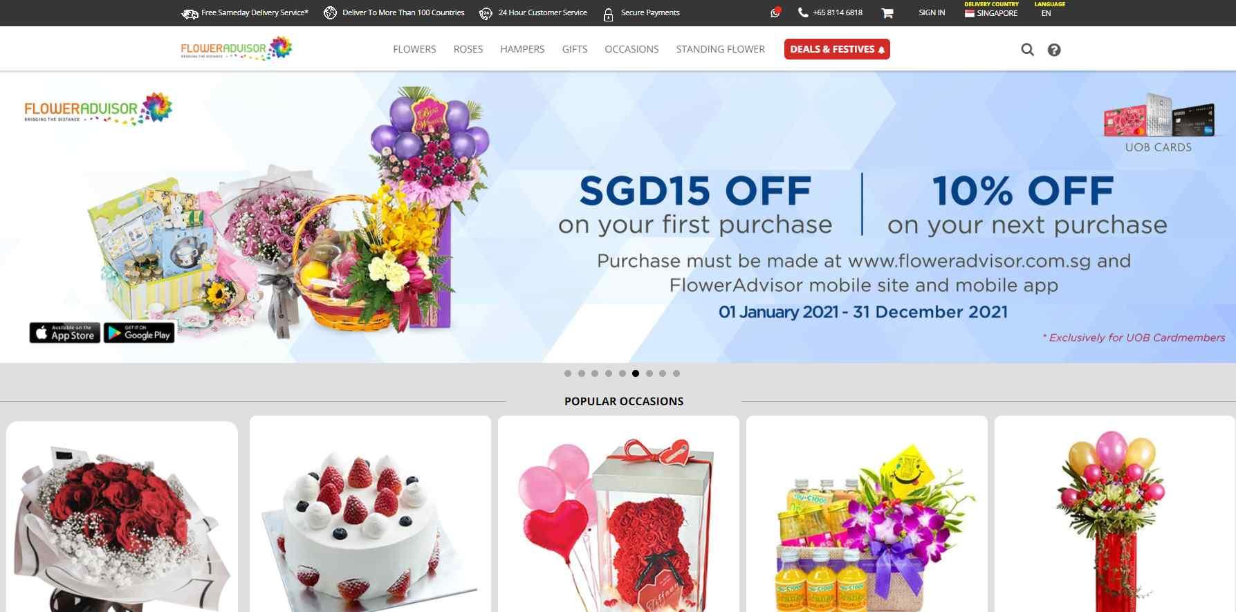 flower advisor Top Gift Hamper Companies in Singapore