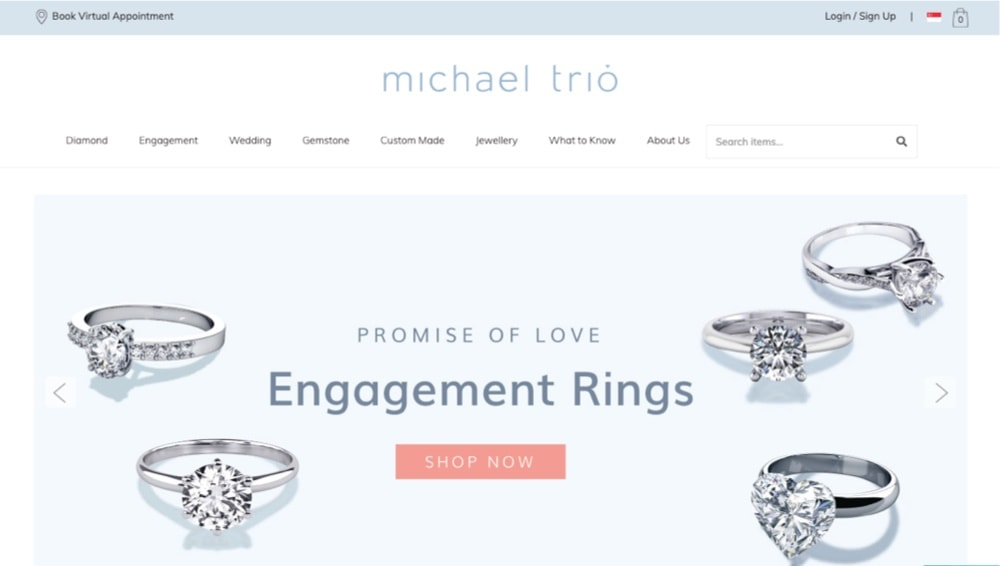 michael trio best engagement rings singapore