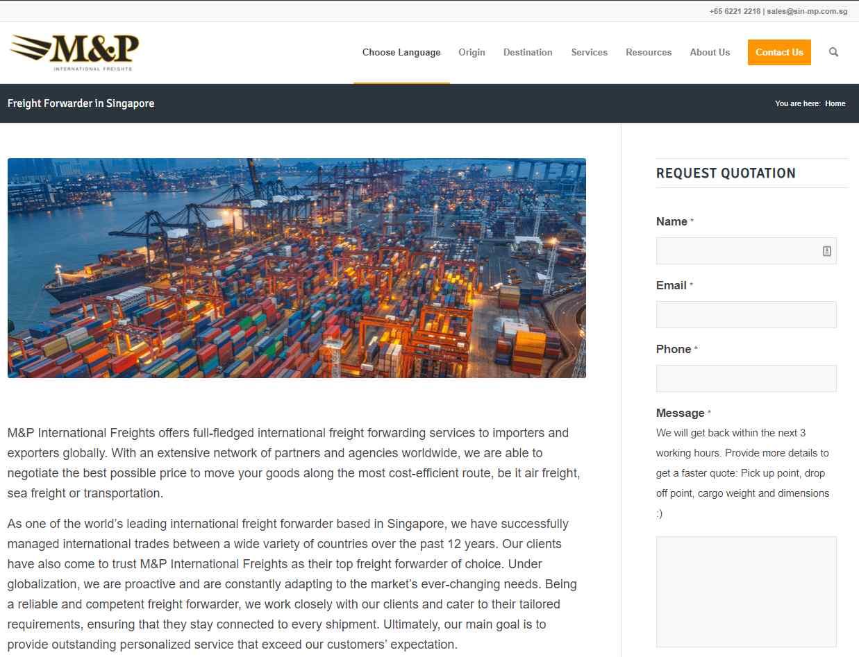 mp Top Logistics Companies in Singapore