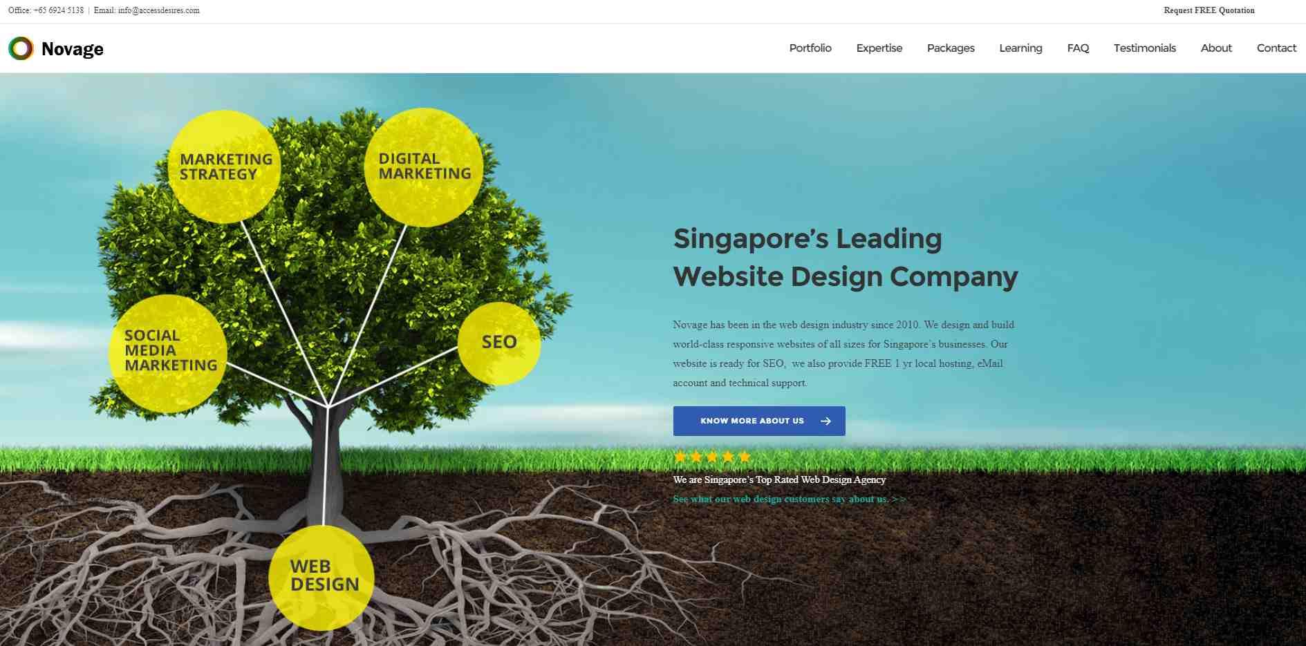 novage Top Digital Design Agencies in Singapore