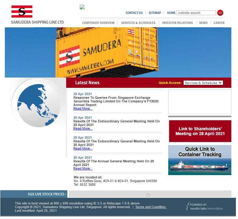 samudera Top Logistics Companies in Singapore