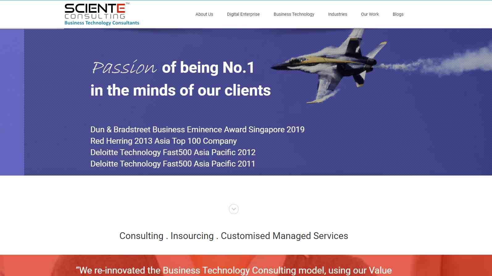 sciente Top Salesforce Consultants in Singapore