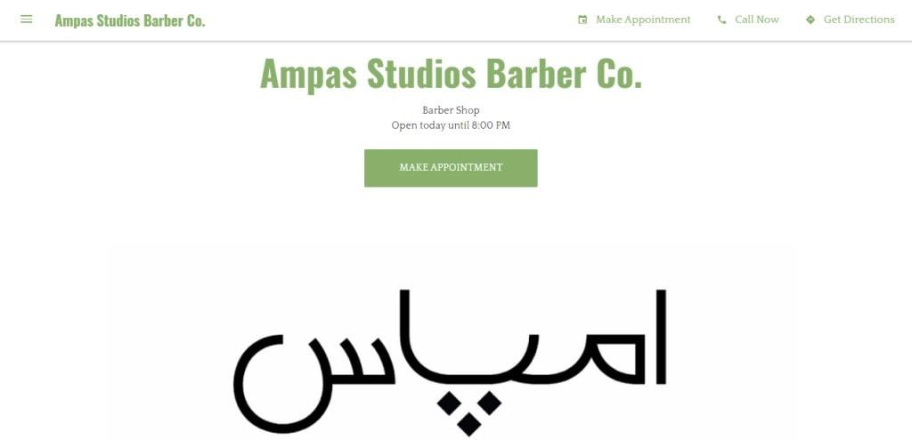 Ampas Studio Top Barbers in Singapore