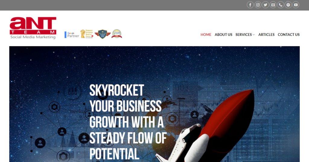 Ant TeamTop Social Media Marketing Companies In Singapore