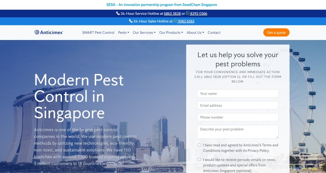 Anticimex Top Pest Control Services in Singapore