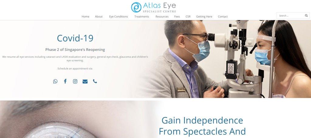 Atlas Eye Top LASIK Services in Singapore