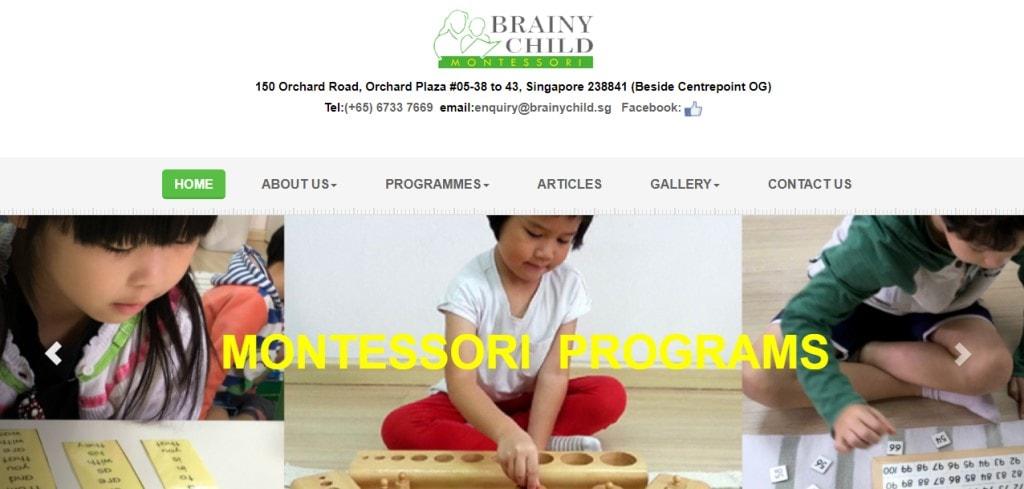 Brainy Child Top Kindergartens in Singapore