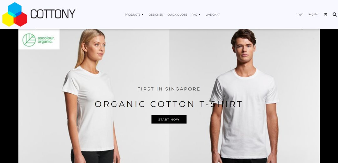 Cottony Top T-Shirt Printing Services in Singapore