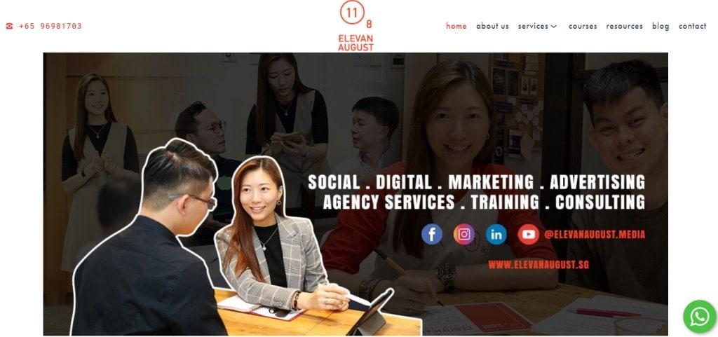 Elevan August Top Social Media Marketing Companies In Singapore