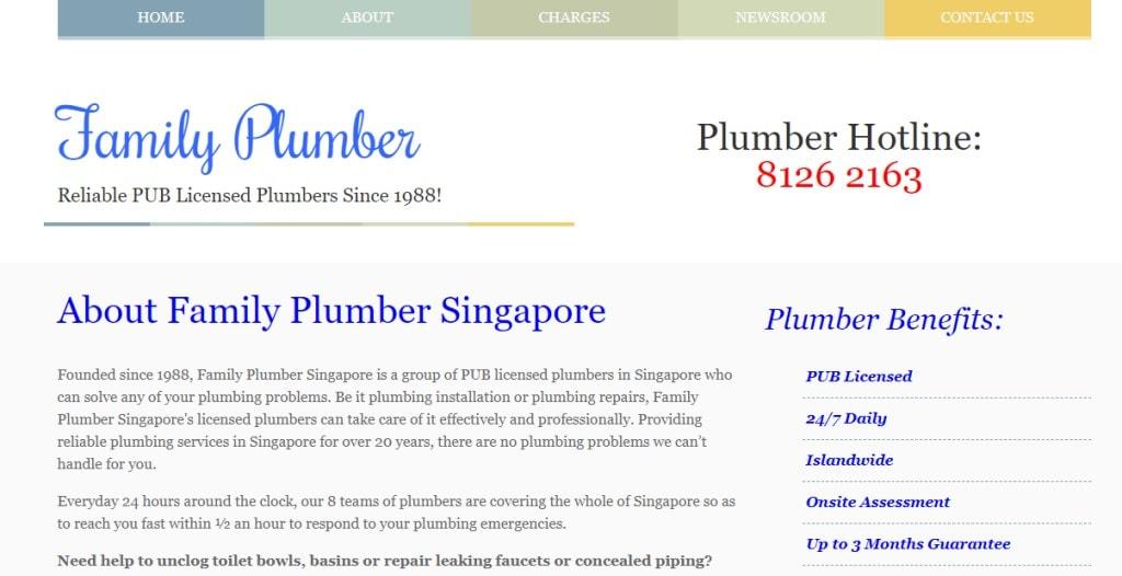 Family Plumber Top Plumbers in Singapore
