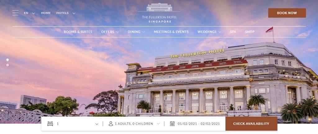 Fullerton HOtel Top Hotels in Singapore
