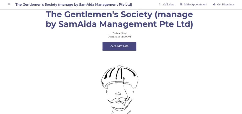 Gentlemen's Society Top Barbers in Singapore