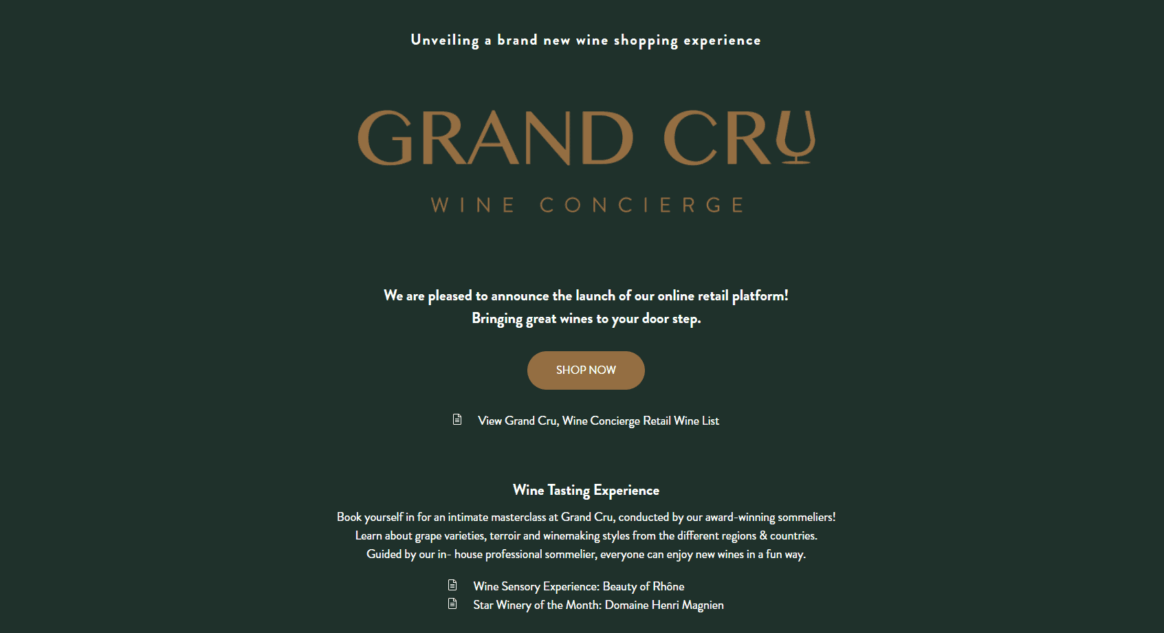 Grand Cru Top Wine Shops Singapore