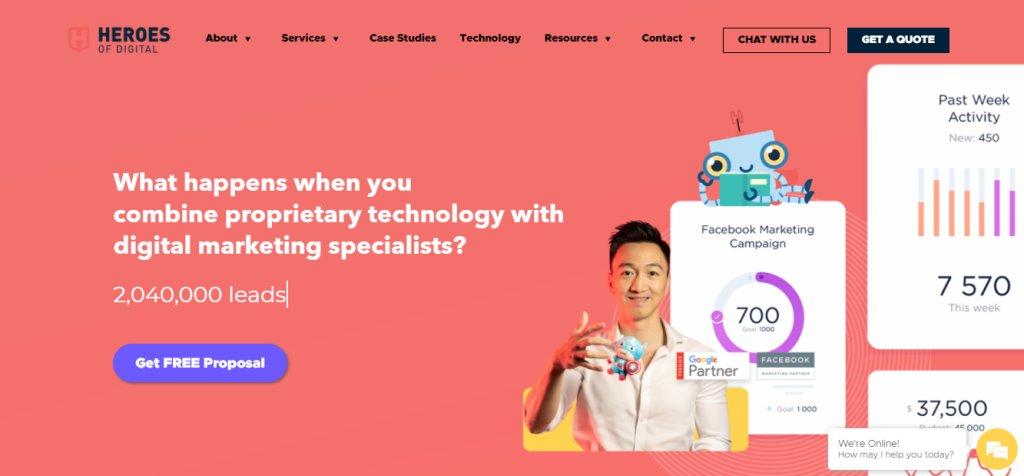 Heroes Digital Top Social Media Marketing Companies In Singapore