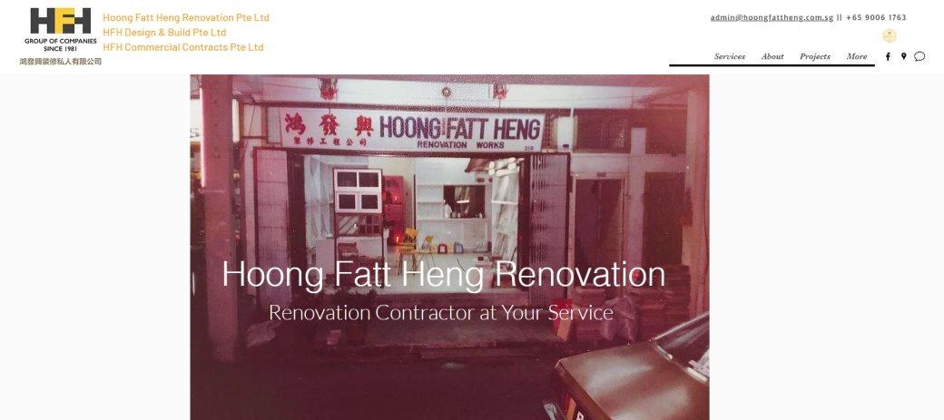 Hong Fatt Heng Top Renovation Contractors in Singapore