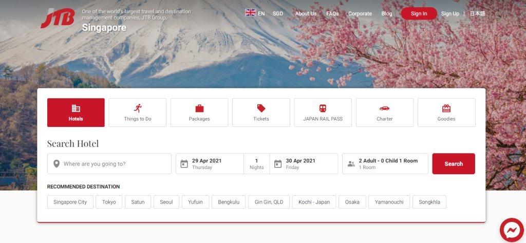 JTB Top Travel Agencies in Singapore