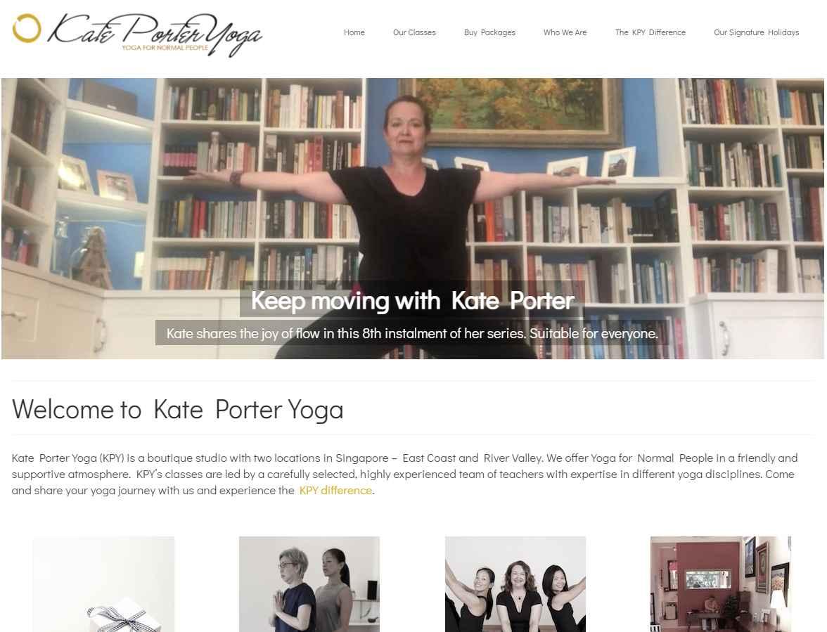 Kate porter yoga Top Yoga Studios in Singapore