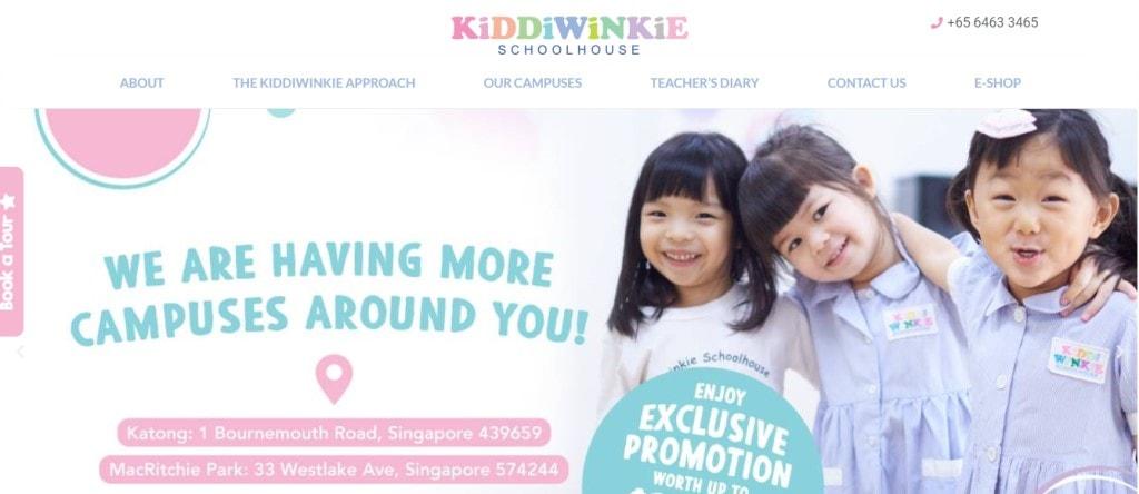 Kiddie winkie Top Preschools in Singapore