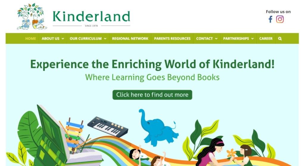 Kinderland Top Kindergartens in Singapore