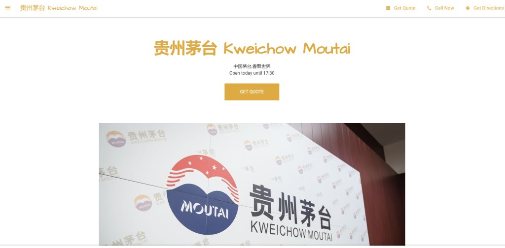 Kweichow Moutai Top Wine Shops Singapore