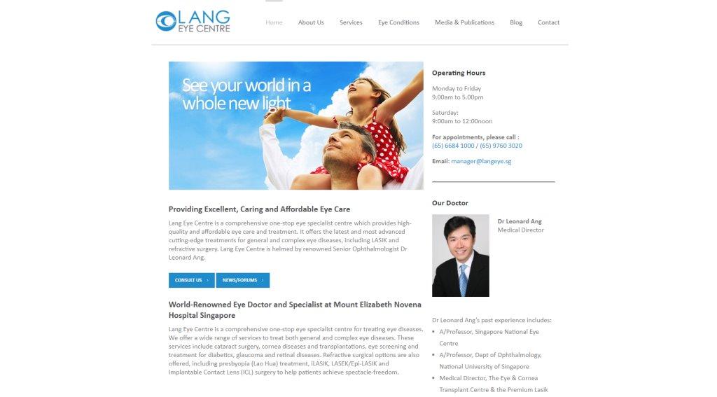 Lang Eye Center Top LASIK Services in Singapore