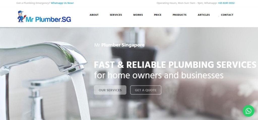 Mr Plumber Top Plumbers in Singapore