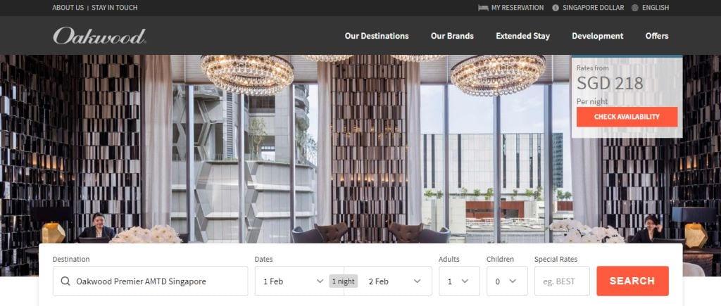 OAkwood Top Hotels in Singapore