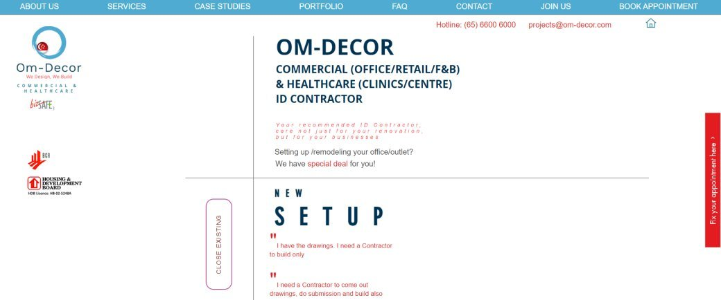 Om Decor Top Renovation Contractors in Singapore