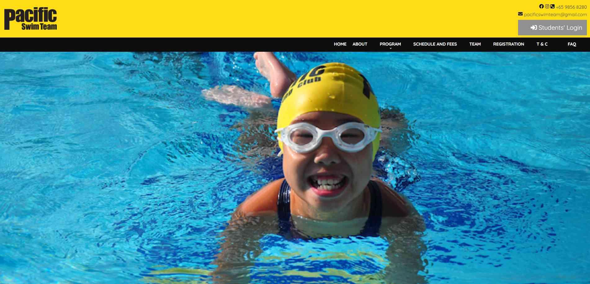 Pacific Swim Team Top Swimming Schools in Singapore