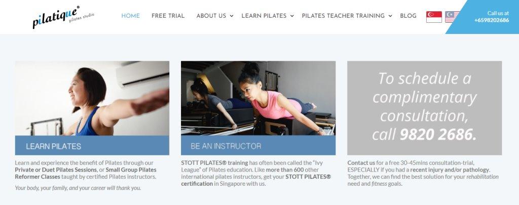 Pilatique Top Pilates Classes in Singapore