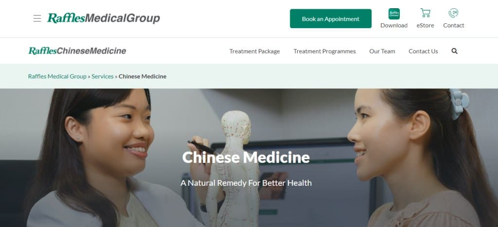 Raffles Medical Top Acupuncture Clinics In Singapore
