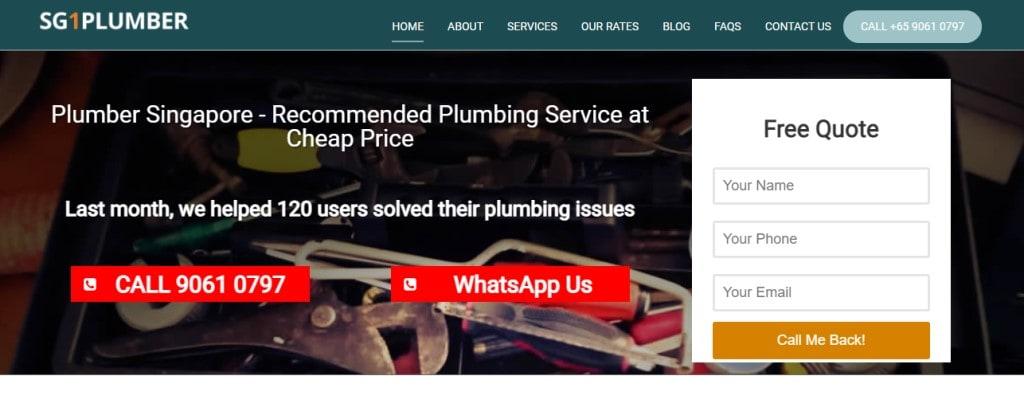 SG1 Plumber Top Plumbers in Singapore