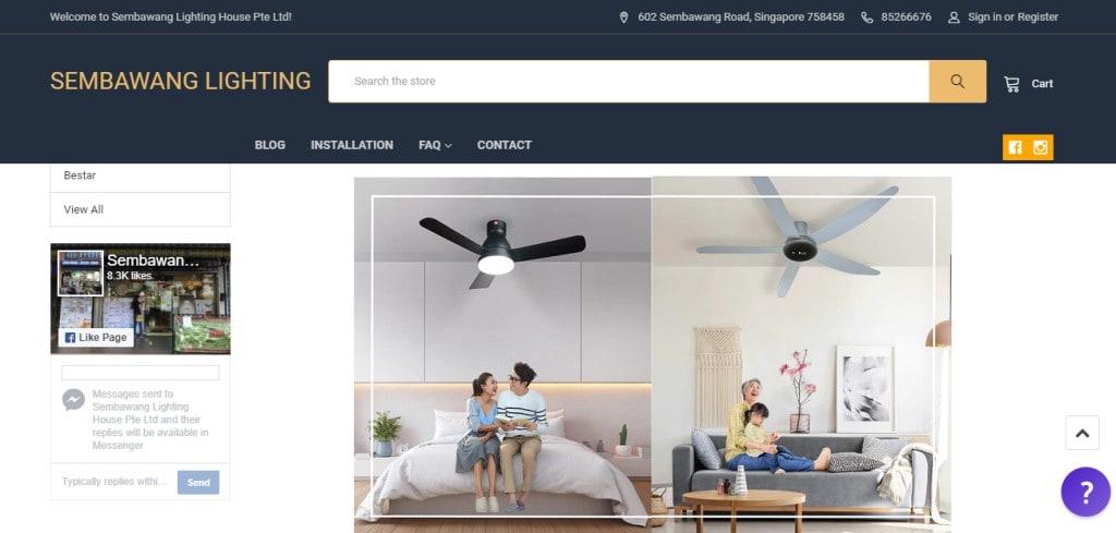 Sembawang Top Ceiling Fan Retailers In Singapore